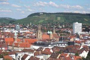 Fotografie Stadt Heilbronn Innenstadt und Wartberg