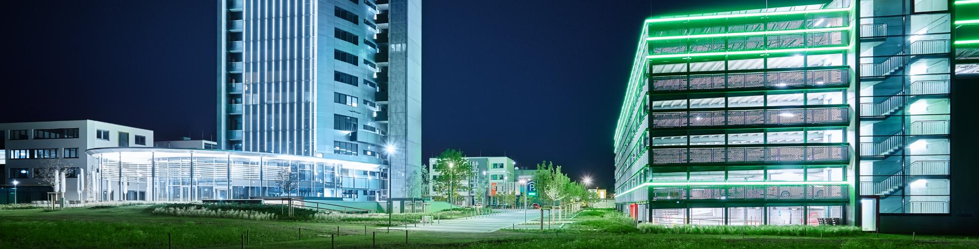 Zukunftspark Wohlgelegen Nachtaufnahme