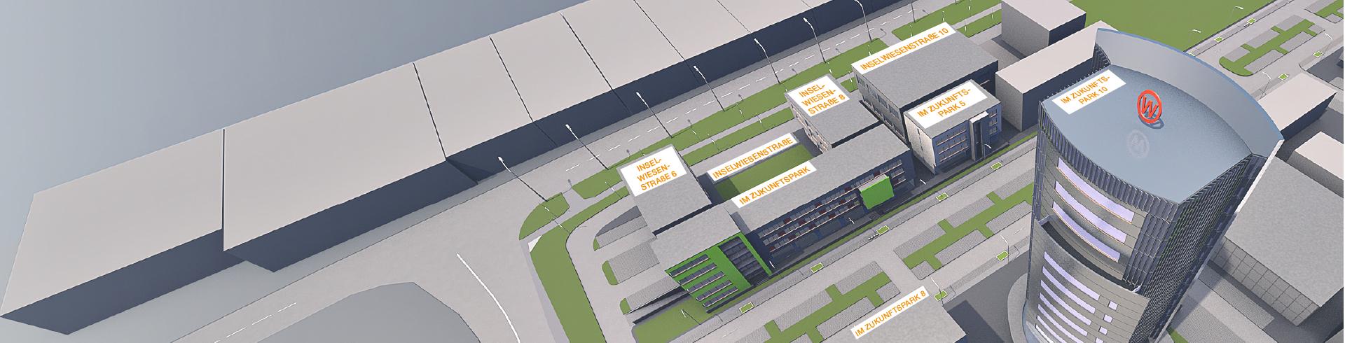 3D-Ansicht Zukunftspark Wohlgelegen von oben