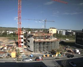 Zukunftspark Wohlgelegen Zeitraffer Bau WTZ Turm