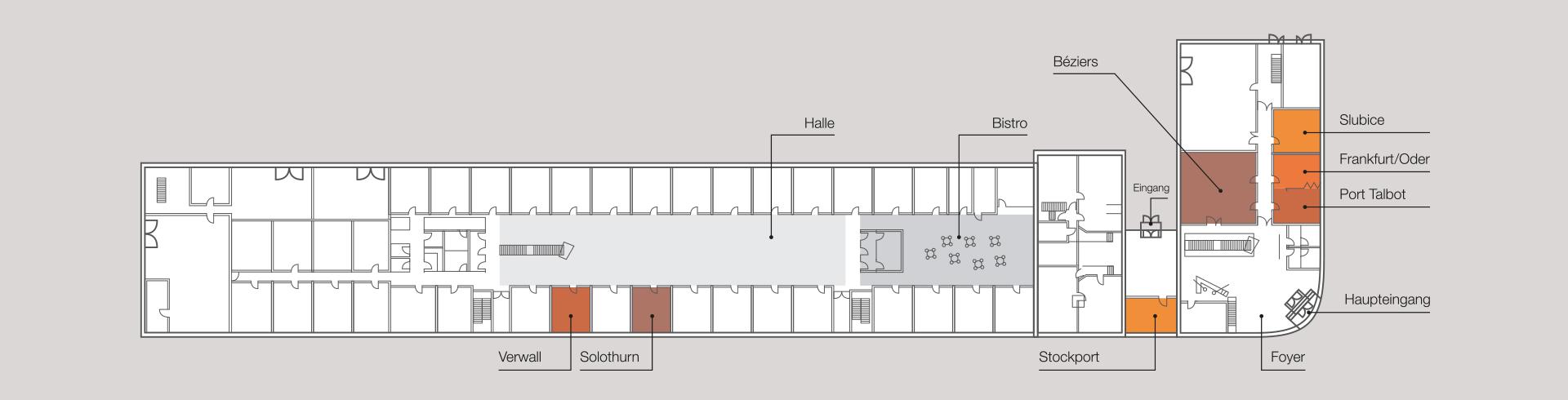 IFH Grundriss Büro- und Veranstaltungsräume Erdgeschoss