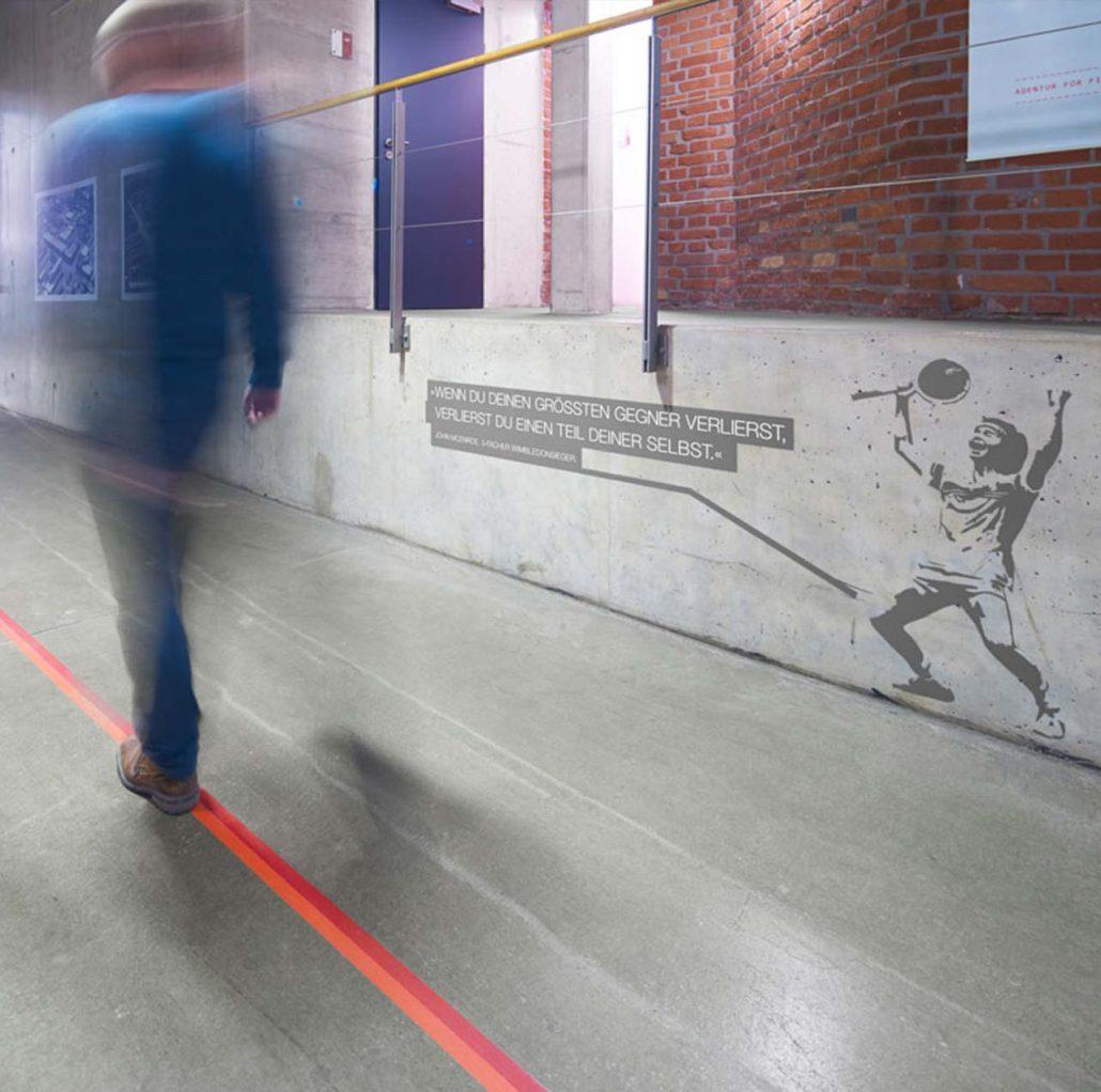 IFH Heilbronn Leitsystem Fußboden und Wände
