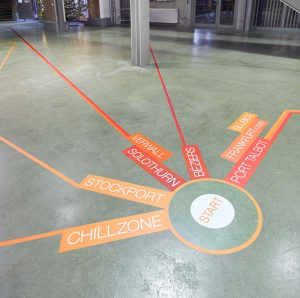 IFH Heilbronn Leitsystem Fußboden